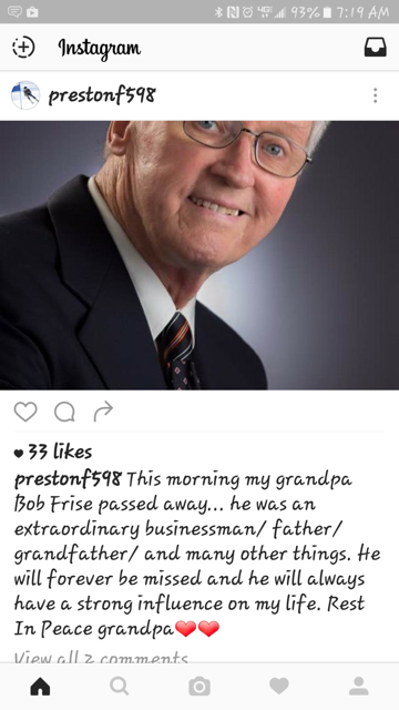 An Instagram post from Mark's son today.