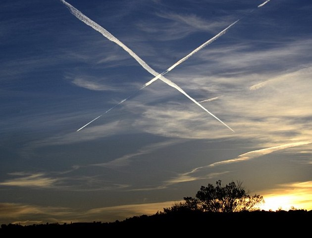 Contrails are pretty, but maybe not so good for the planet.