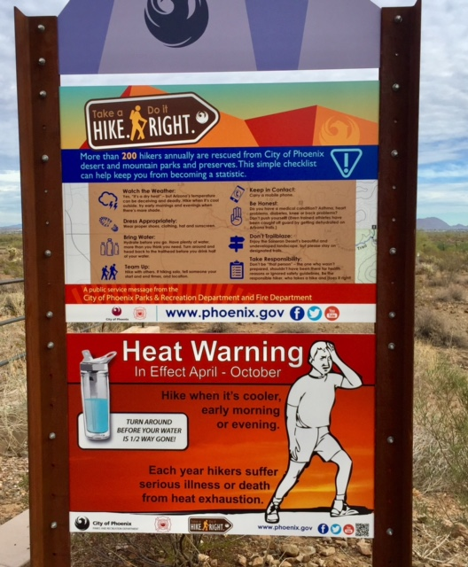 This sign was a little scary. The hot season seems a little long.