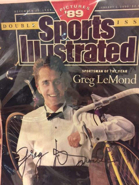 I thought of this story because Joe brought this to beer night last night. I guess he brought a signed Greg Lemond poster to the Christmas gift exchange and had this left over.